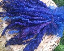 Wensleydale locks 8-10 inches, extreme long locks, art yarn, spinning, wool locks, needle felting, Teeswater, doll hair, doll re-root, MHD