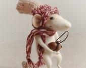 Mouse, felted mouse, needle animal, toy, felted mouse, stuffed plush,  art doll, woolen miniature, cute animal, tender mouse