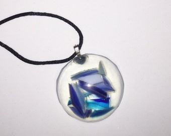 Blue Stained Glass Resin Dome