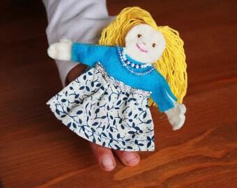 Finger Puppet Felt Doll