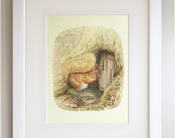 "FRAMED Beatrix Potter Print, New Baby/Birth, Nursery Picture Gift, 3 Frame Options, Lovely Birth or Christening Gift, 12X10"", Peter Rabbit"