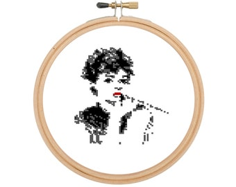 Timeless Elegance in Pixels - Audrey Hepburn - Counted Cross Stitch Pattern - Digital PDF