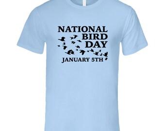National Bird Day January 5th Fun Celebration T Shirt
