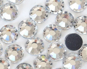 HOTFIX  Rhinestone Packs , Clear glass hot-fix crystals