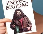 Funny Birthday Card | Happee Birthdae | Hagrid Harry Potter Hogwarts Happy Birthday Card Boyfriend Birthday Greeting Card Friend Birthday