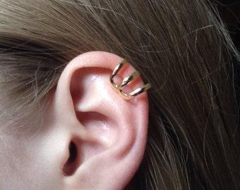 Ear Cuff, Triple Ear Cuff, Gold Ear Cuff, Silver Ear Cuff,Rose Gold Ear Cuff, Boho Jewelry, Birthday Gift
