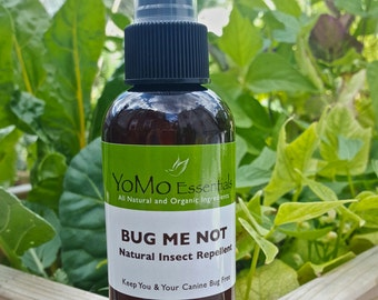 BUG ME NOT Organic All Natural Insect Repellent For People & Dogs.  Fleas, Mosquitos, Ticks  Chemical Free