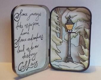 Narnia inspired paper diorama/story box