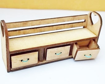 1:24th Child Bench and Storage Kit