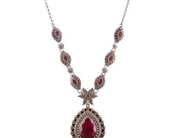 Authentic Ottoman style sterling silver necklace ZB6006