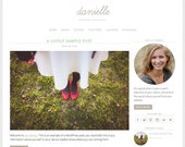 "WordPress Theme ""Danielle"", Responsive WordPress Theme, Photography Blog Template, Premade Web Design, for WordPress.org Websites"