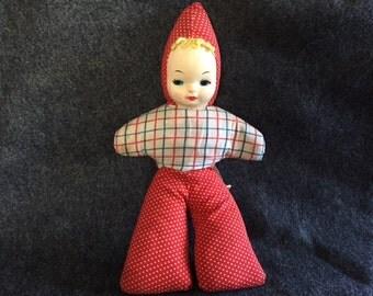 Adorable vintage Samet and Wells carnival doll