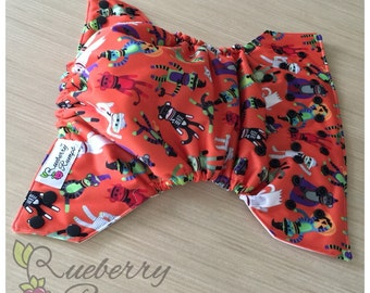 Cloth Diaper, Sock Monkey Cloth Diaper, Halloween Diaper, Cloth Diaper, Rueberry Rumps, Monkey Diaper, Halloween Diaper Cover, Monkey