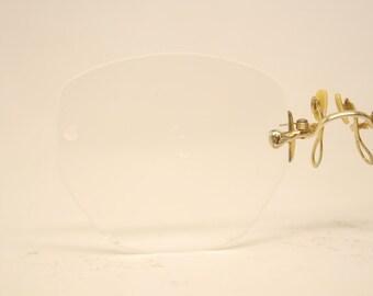 Pince Nez Eyeglasses Antique Hard Bridge Gold Tone eyeglasses 249