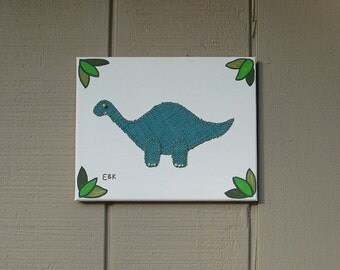 Mini Brontosaurus #2 Fabric Wall Art