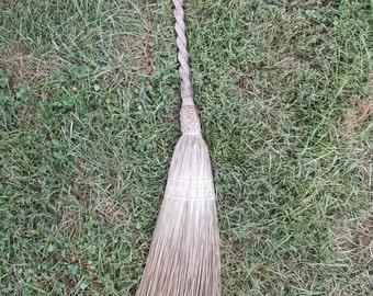 Vintage Berea College hearth broom Artcraft with twisted handle
