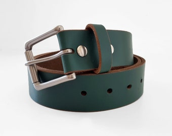 brown chromexcel horween leather belt 1 5 w by shumdesigns