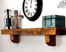 Ledge Shelf.Floating Shelf.Picture Ledge.Picture Shelf.Trophy Shelf.Rustic Decor.Distressed Decor.Picture Ledge Shelf (8in Mantel)