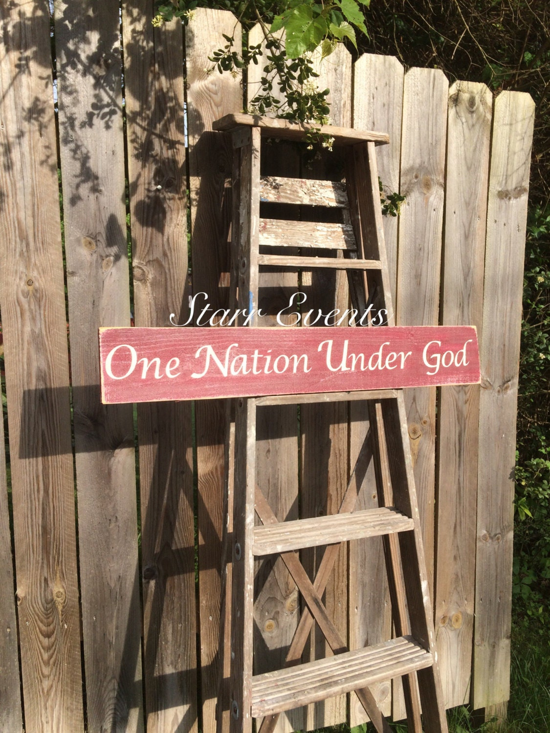 One nation under god sign patriotic signs patriotic decor for Decor nation