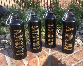 Groomsmen personalized water bottle aluminum sports cup bridal party gifts