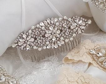 Bridal Hair Comb, Crystal Hair Comb, Wedding Hair Comb, Pearl Hair Comb