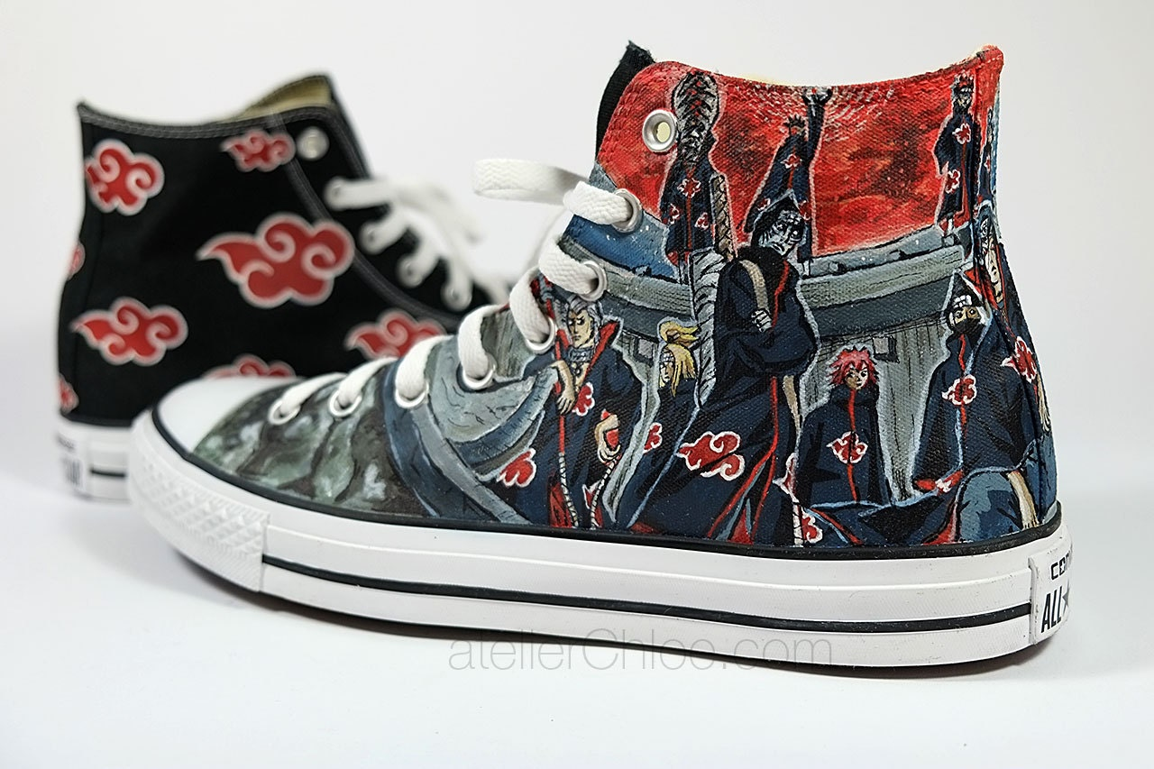Custom Converse Anime Manga Hand Painted Sneakers Custom