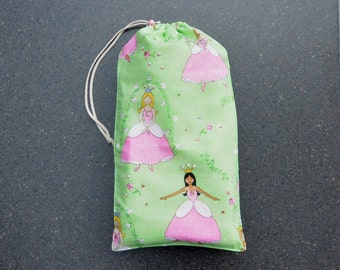 Dance Shoe Bag for the young dancer. Princess ballet shoe bag with bling.