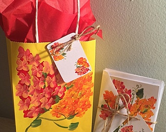 Hand painted stationary gift set-10 cards and matching envelopes