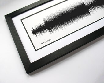 Mr. Jones - Alternative Rock, Sound Wave Art created from entire song.