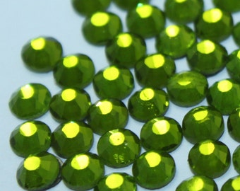 DMC Olive Hotfix Rhinestones, wholesale pricing