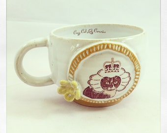 The Royal Collection- Sir Monkey the Tuxedo Cat Latte cup