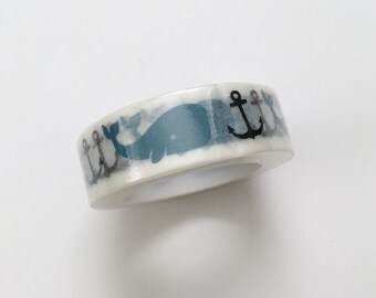 October Afternoon Treasure Map Whale Washi