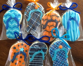 Detailed Flip Flop Cookies - perfect party cookies!