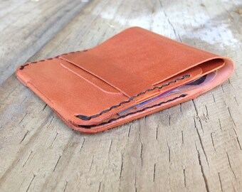 Kangaroo Leather Minimalist Wallet, Slim Design, Personalisation Available, The Honey Woronora Wallet