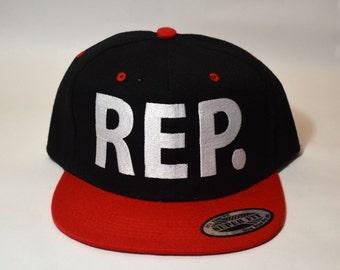 Rep Snapback Red bill