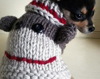 Knitting Pattern For Sock Monkey Sweater : Sock monkey dog Etsy