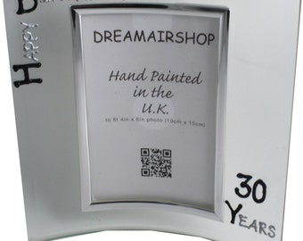 CUSTOMIZED 30th Birthday Gift Frames Free postage in the UK