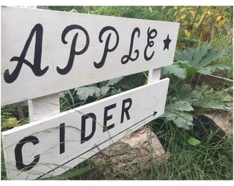 Rustic APPLE CIDER Sign