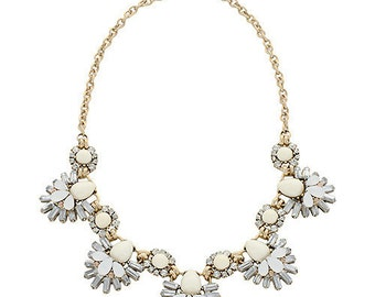 Enchanted Statement Necklace - Ivory