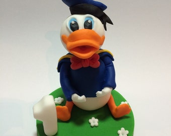 Donald Duck cake topper made from fondant/ gum paste