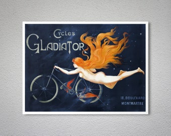 Cycles Gladiator, 1905 - Bicycle Poster - Poster Print, Sticker or Canvas Print