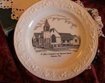 Coshocton, Ohio Collector Plate - St. John's Evangelical and Reformed Church, Homer Laughlin