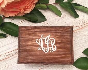 Monogram Initial Ring Box/ Ring Bearer Box/ Wedding Keepsake