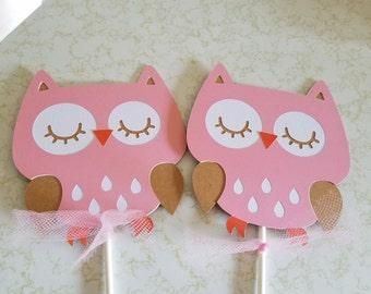 Owl centerpiece sticks
