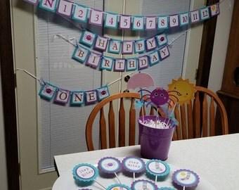 Itsy Bitsy Spider party package, Itsy Bitsy Spider Photo memory Banner, Itsy Bitsy Spider birthday, Itsy Bitsy spider baby shower