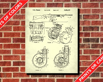 Pump Action Shotgun Patent Print Shotgun Blueprint Firearm Patent Gun Patent Workshop Wall Art Man Cave Poster