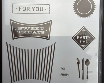 All about Sugar Stamp Set - Stamping Up! - 10 pieces - NIP - Price Reduced