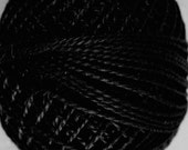 VALDANI Size 12 - S1 Black Pearl Cotton | Variegated Color | Hand Dyed Thread | 109 Yard Cotton Ball