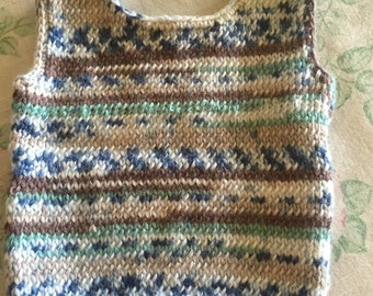 Knitted Fair Isle Singlet