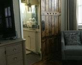 Interior Barn Door - Sliding Wooden Door - Barn Door with Hardware - Farmhouse Style Barn Door - Rustic Wood Headboard - Barn Door Package